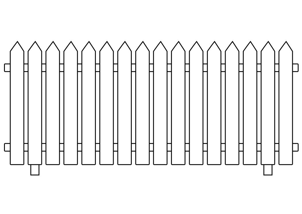 White picket fence clipart picture free library White picket fence clipart 4 » Clipart Station picture free library