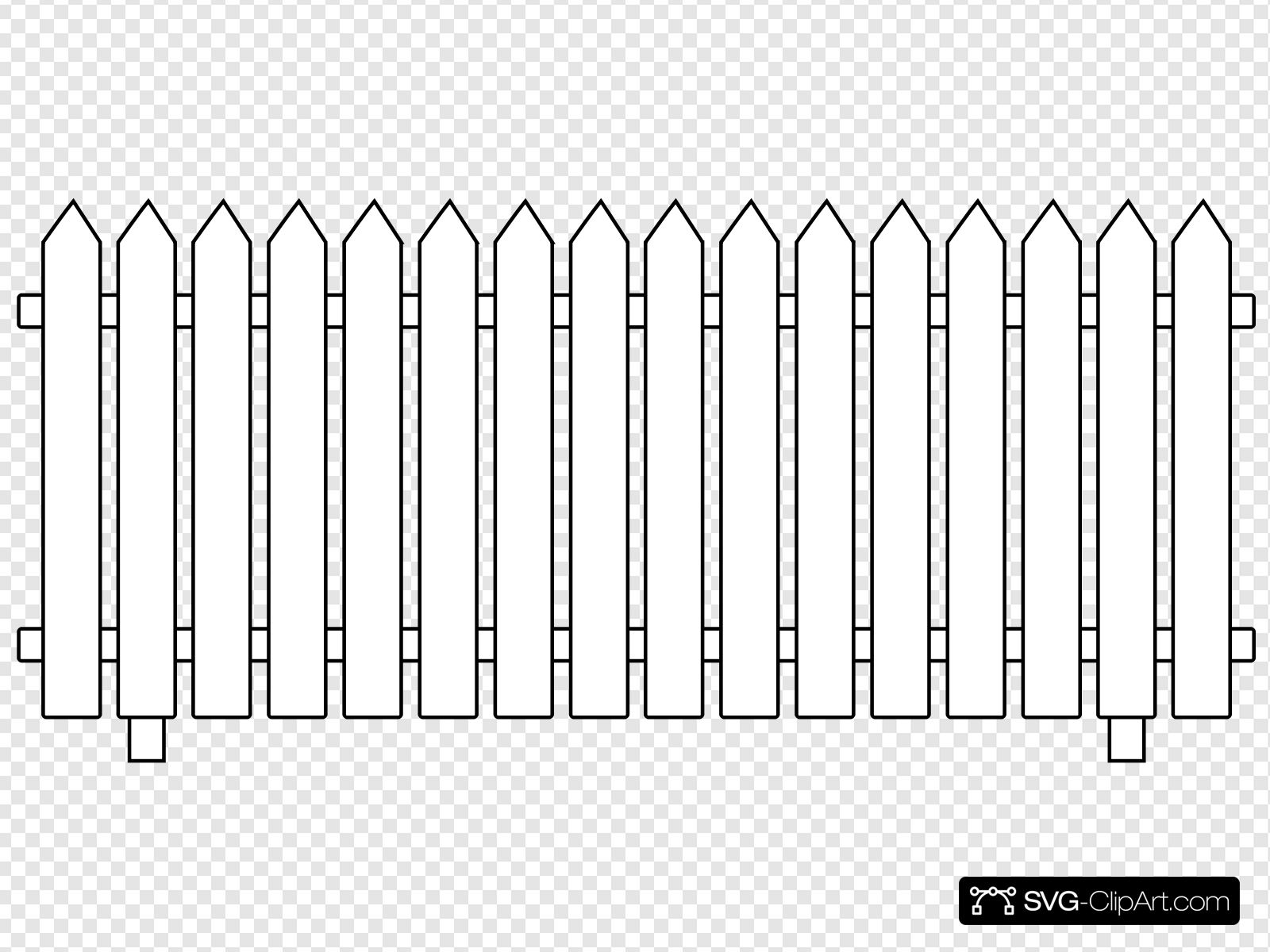 White picket fence clipart graphic library stock White Picket Fence Clip art, Icon and SVG - SVG Clipart graphic library stock