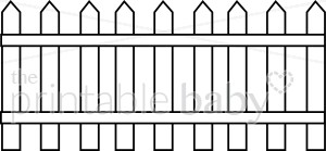 White picket fence clipart svg transparent library Picket Fence Clipart | Mommy & Daddy Clipart svg transparent library