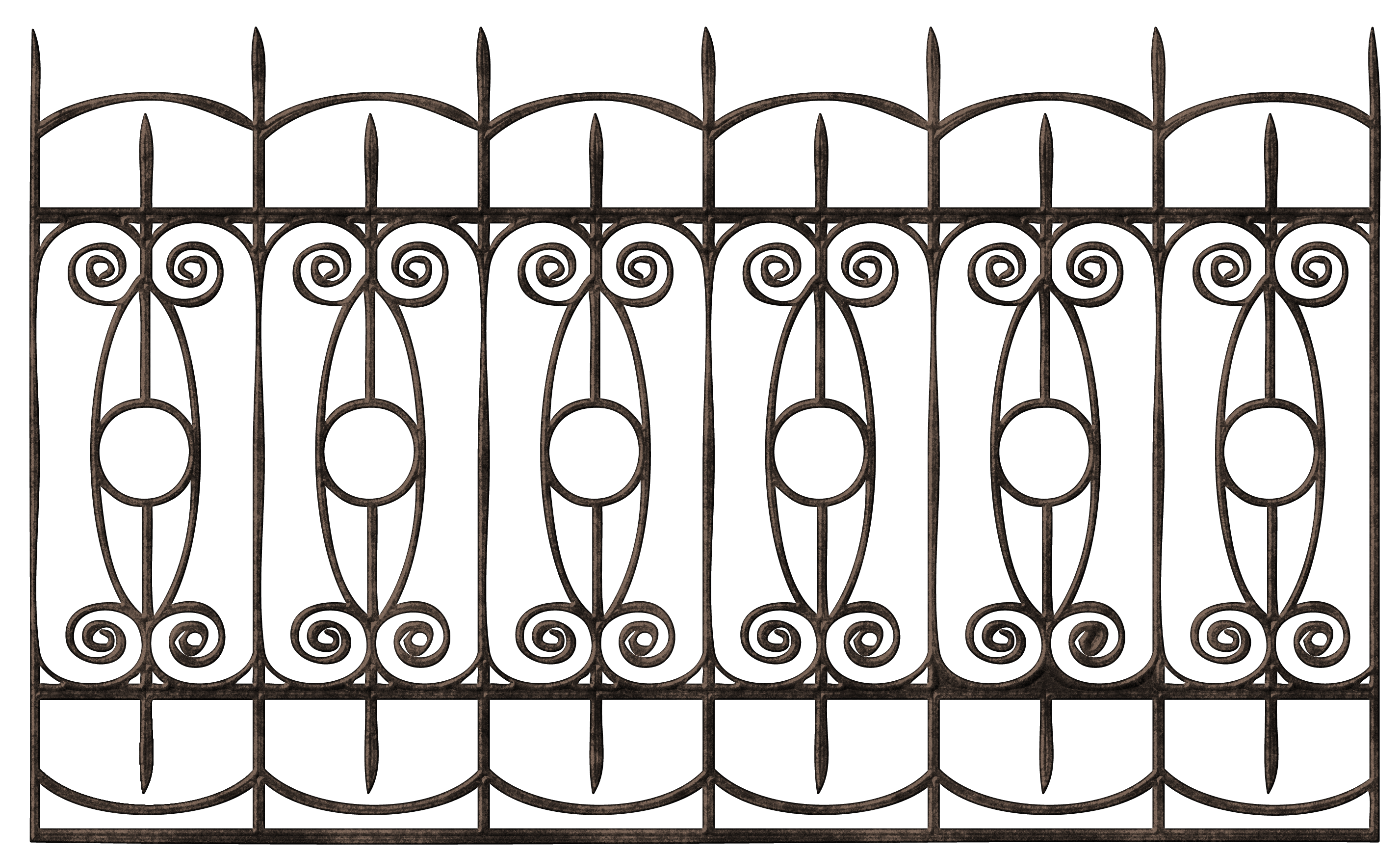 White picket fence house clipart png free stock Transparent Ornamental Iron Fence PNG Clipart | ClipArt | Pinterest ... png free stock