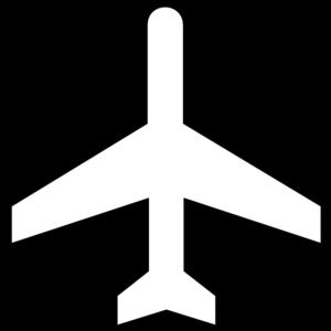White plane clipart jpg stock Black And White Aeroplane Clip Art at Clker.com - vector ... jpg stock