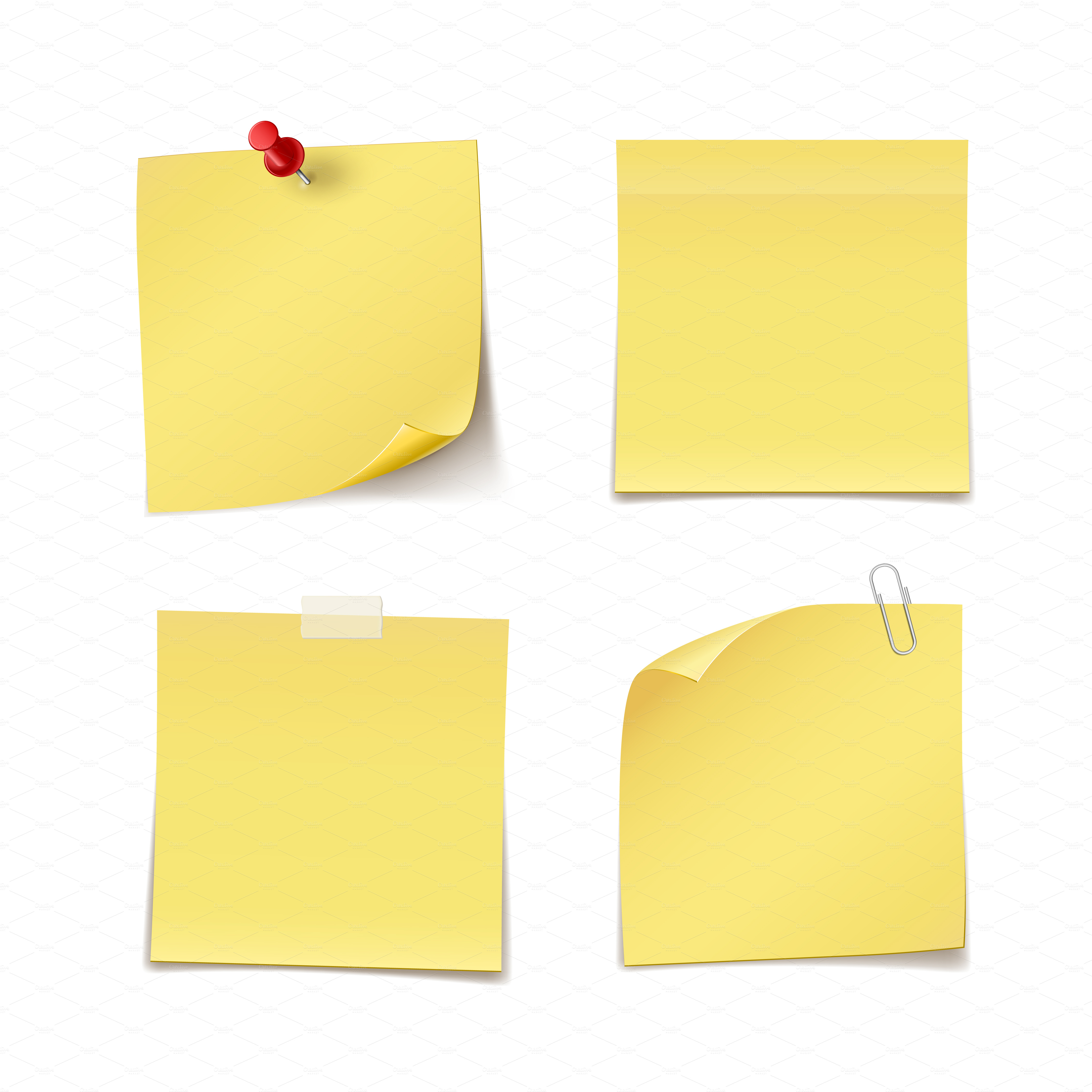 White post it notes with tape clipart graphic black and white Free Sticky Notes, Download Free Clip Art, Free Clip Art on ... graphic black and white