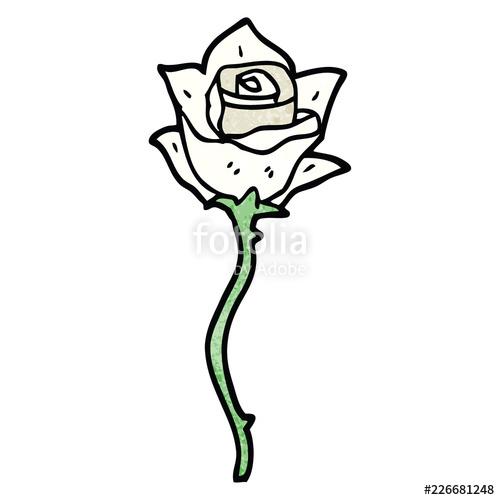 White rose cartoon clipart jpg freeuse download cartoon doodle white rose\