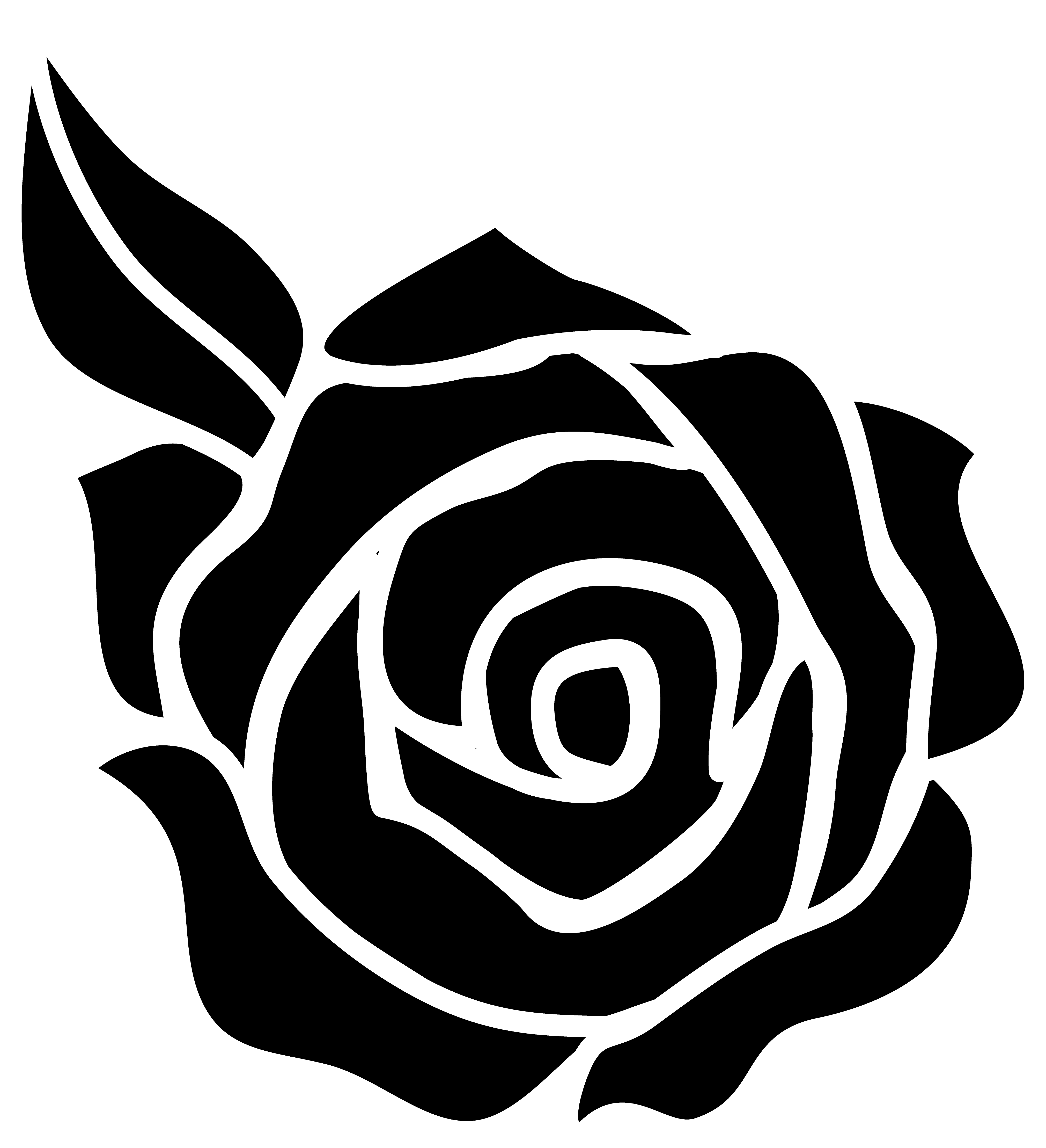 White rose cartoon clipart png library stock Free Cartoon Rose Black And White, Download Free Clip Art ... png library stock