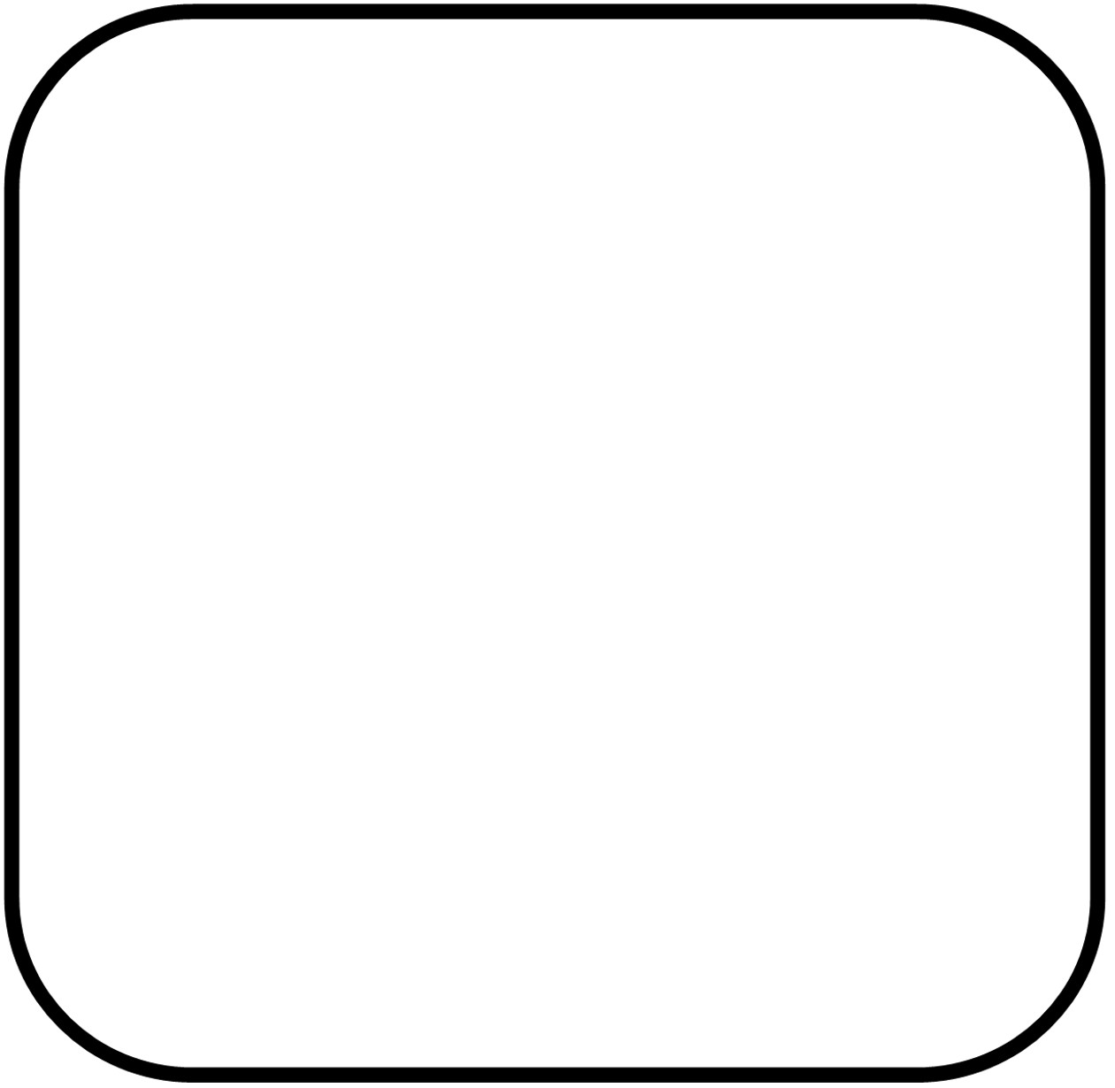 White round square clipart png black and white library Free Curved Rectangles Cliparts, Download Free Clip Art ... png black and white library