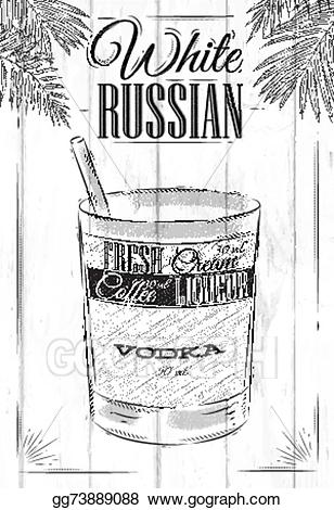 White russians clipart banner free download EPS Illustration - White russian cocktail . Vector Clipart ... banner free download