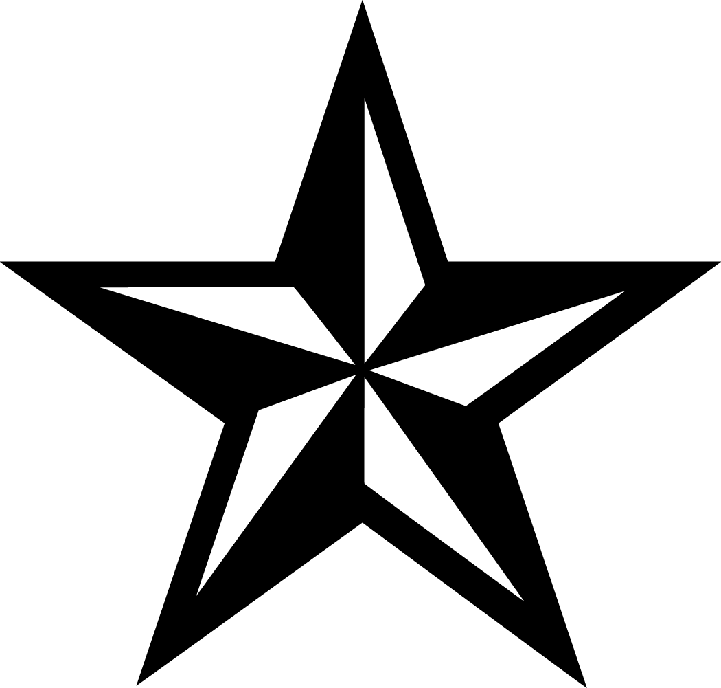 White rustic stars clipart png black and white stock Western Stars Cliparts - Cliparts Zone png black and white stock