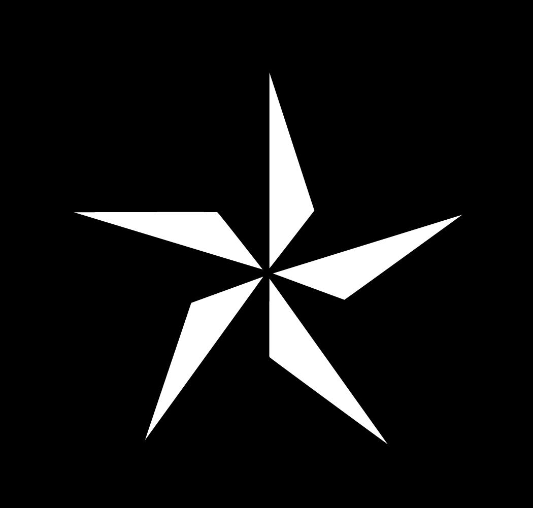 White rustic stars clipart