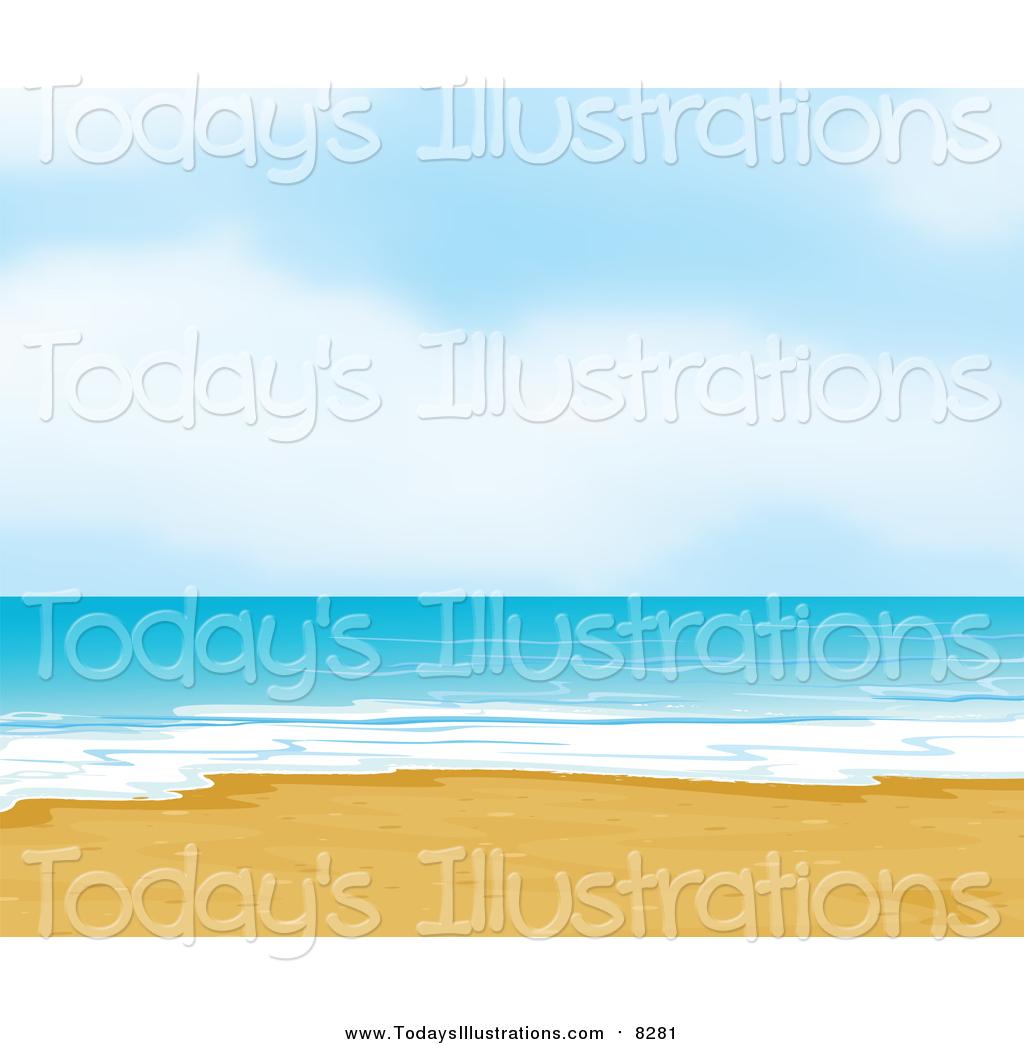 White sandy beach clipart svg freeuse Clipart of a White Sandy Beach by Graphics RF - #8281 svg freeuse