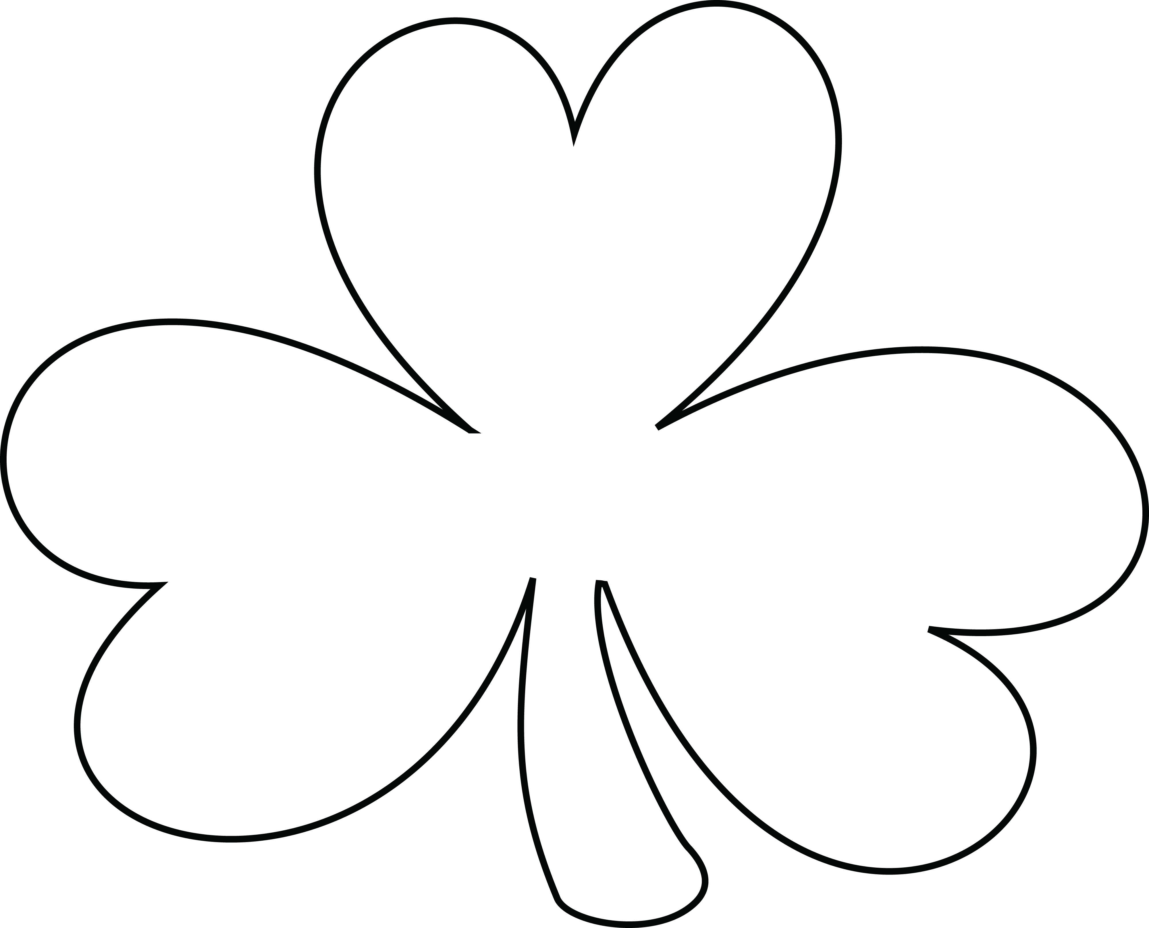 White shamrock clipart clip library download Black and white shamrock clipart 5 » Clipart Station clip library download