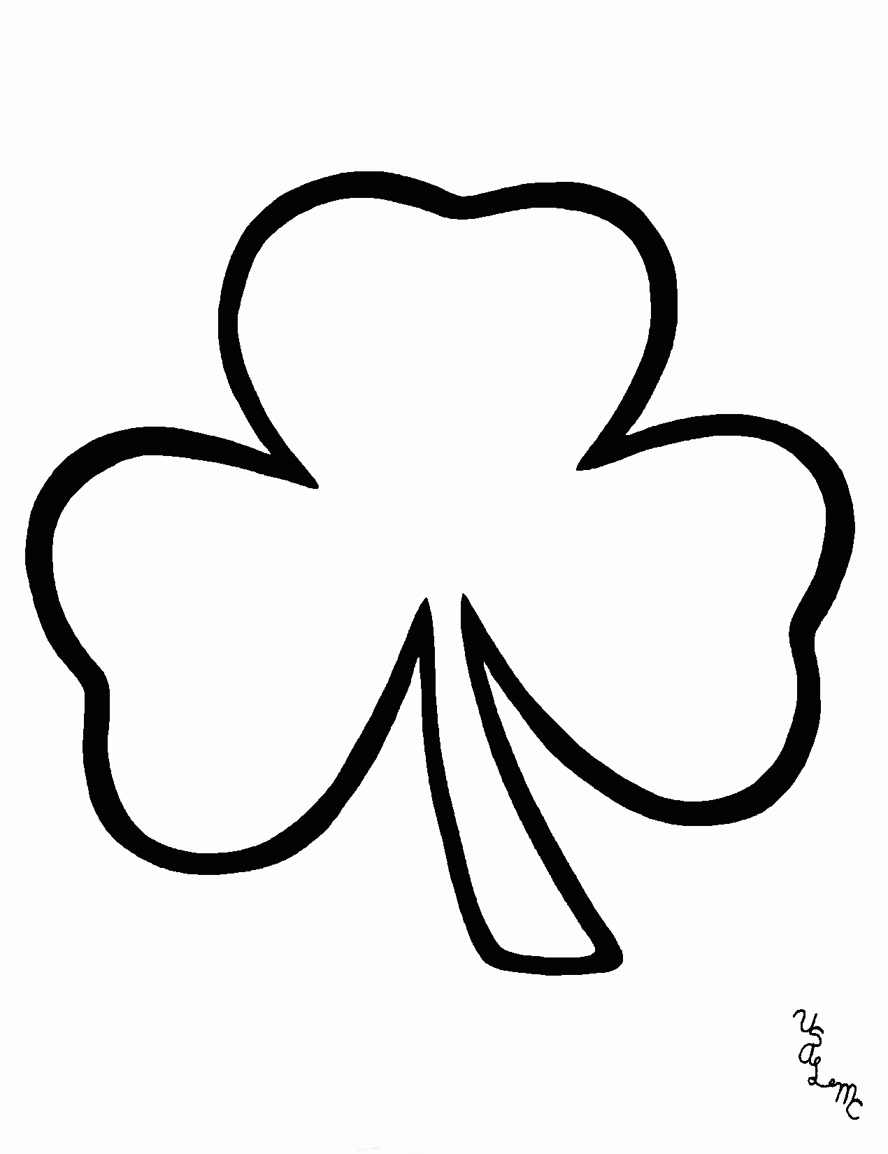 White shamrock clipart png freeuse download Shamrock Clipart Black And White – Free Clip Art Images for ... png freeuse download