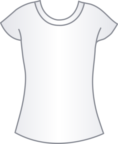 White shirt template clipart png royalty free download Womens White T Shirt Template - Free Clip Art png royalty free download