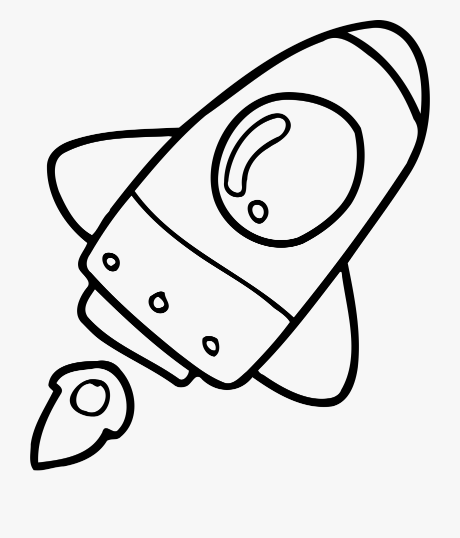 White simple rocket clipart image library Simple Drawing Rockets Rocket Ship Transparent & Png - Black ... image library