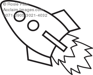 White simple rocket clipart graphic black and white stock Simple Rocket Drawing | Free download best Simple Rocket ... graphic black and white stock