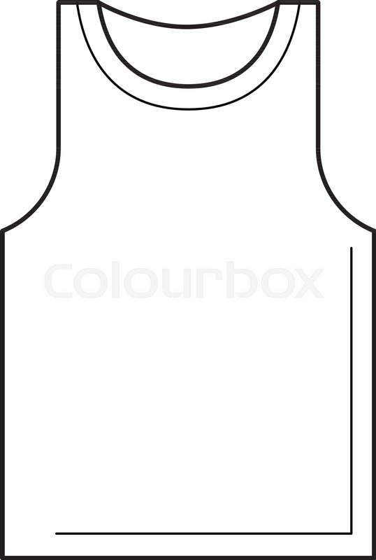 White singlet clipart svg freeuse library Tank top line icon isolated on white ... | Stock vector ... svg freeuse library