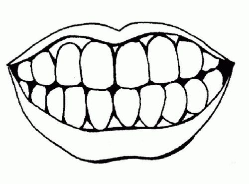 White teeth clipart clipart transparent download Mouth smile clipart black and white 1 » Clipart Station clipart transparent download