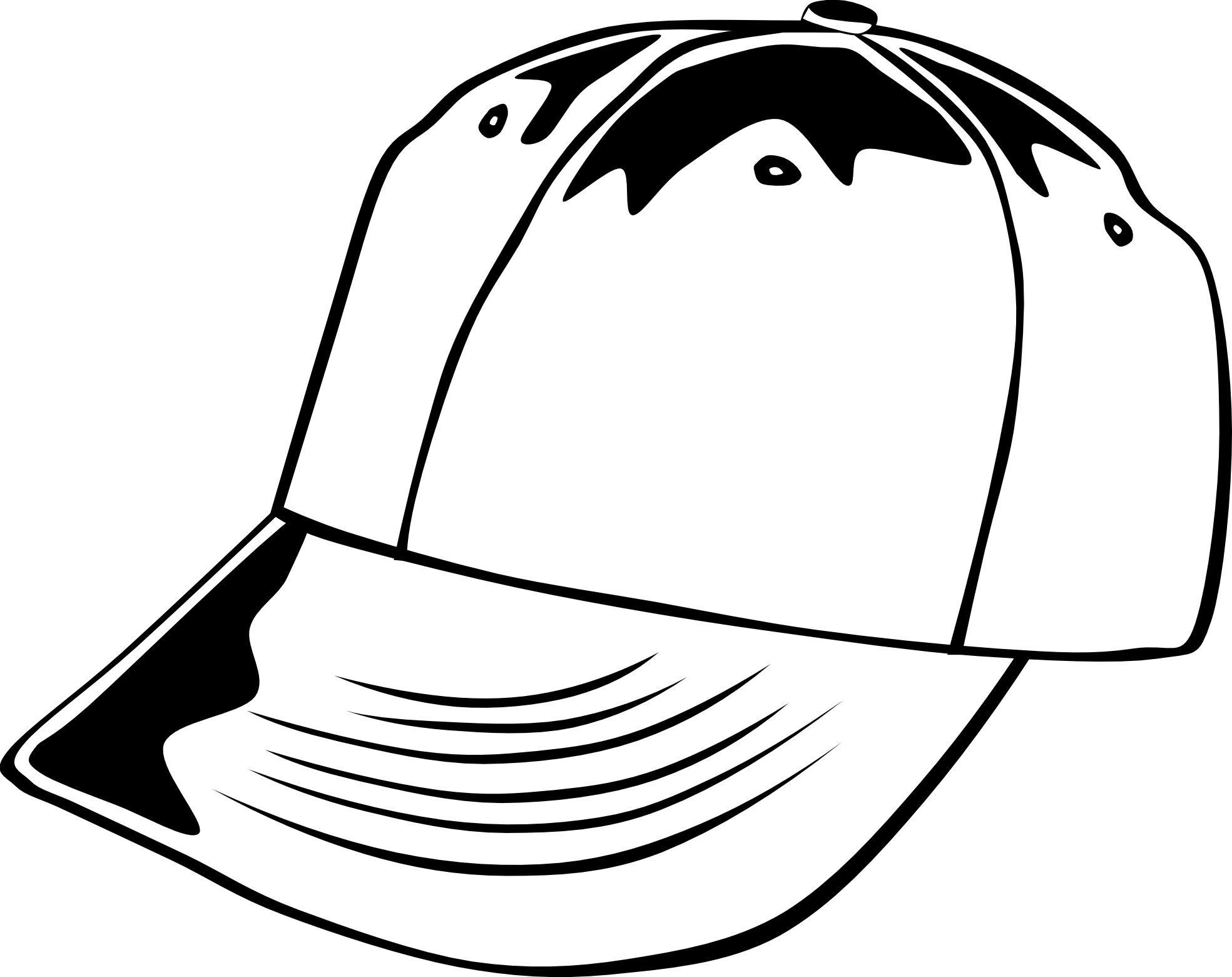 White snapback hat clipart svg black and white stock Baseball Caps Clipart | Free download best Baseball Caps ... svg black and white stock