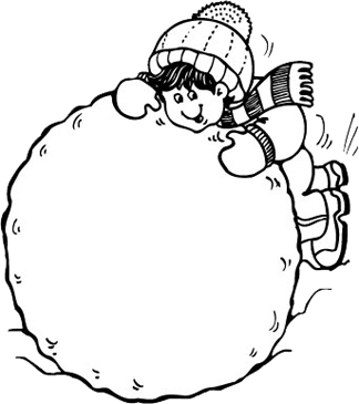 White snowball clipart clip art download Child Building Snowball | Printable Clip Art and Images clip art download