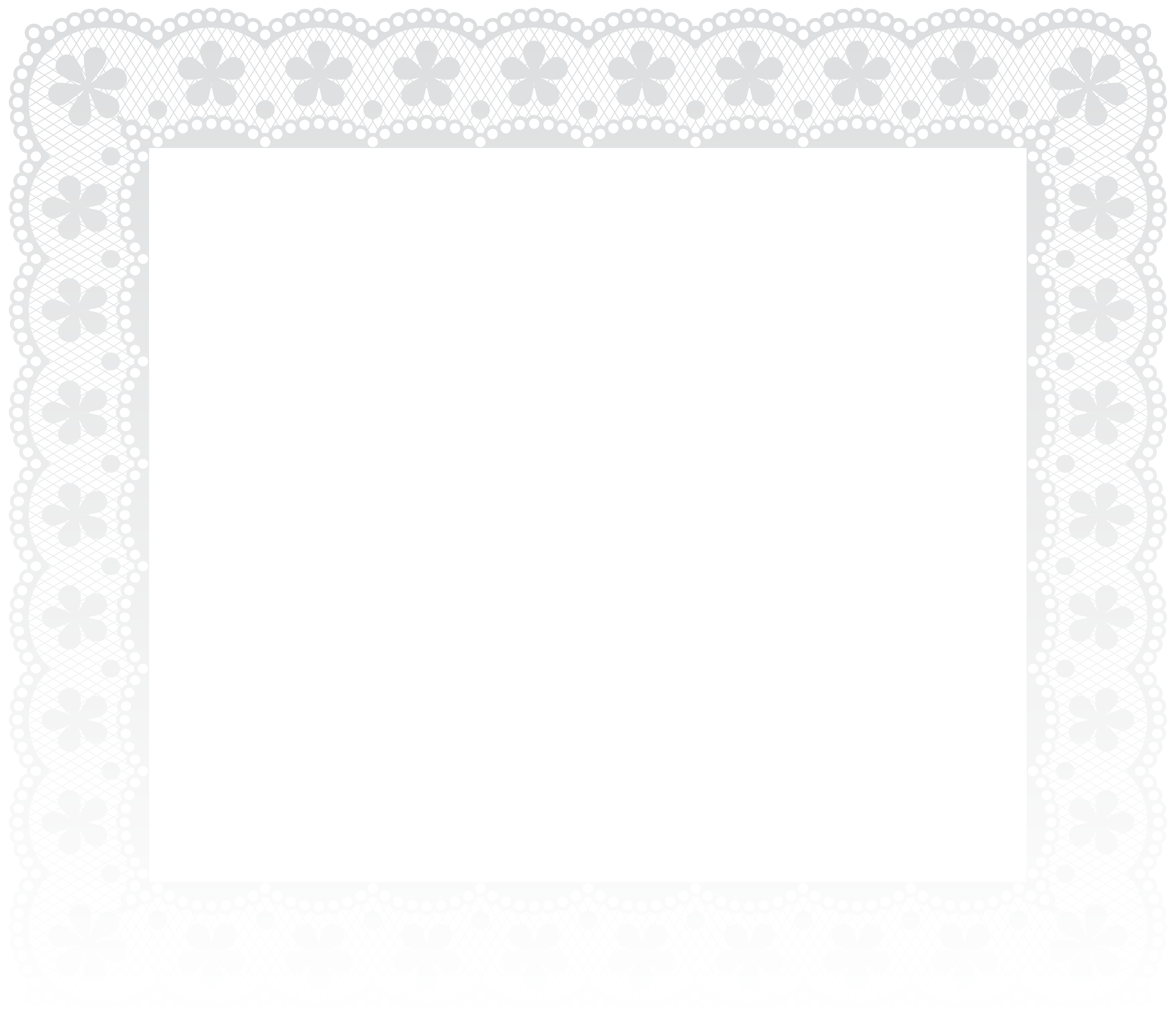 White snowflake transparent frame clipart banner black and white download Lace Border Frame PNG Clip Art Image | Gallery Yopriceville - High ... banner black and white download