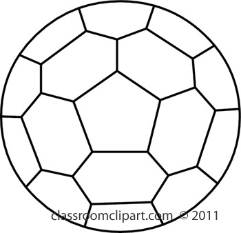White soccer ball clipart clip transparent library Soccer Ball Black And White Clipart - Clipart Kid clip transparent library
