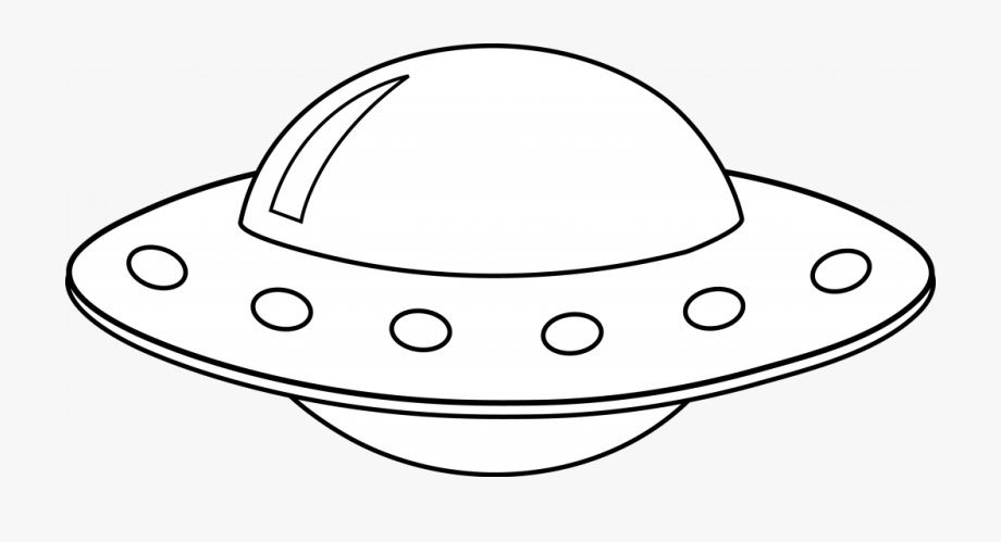 White spaceship clipart jpg transparent library Spaceship Clipart Black And White - Ufo Cartoon Black And ... jpg transparent library