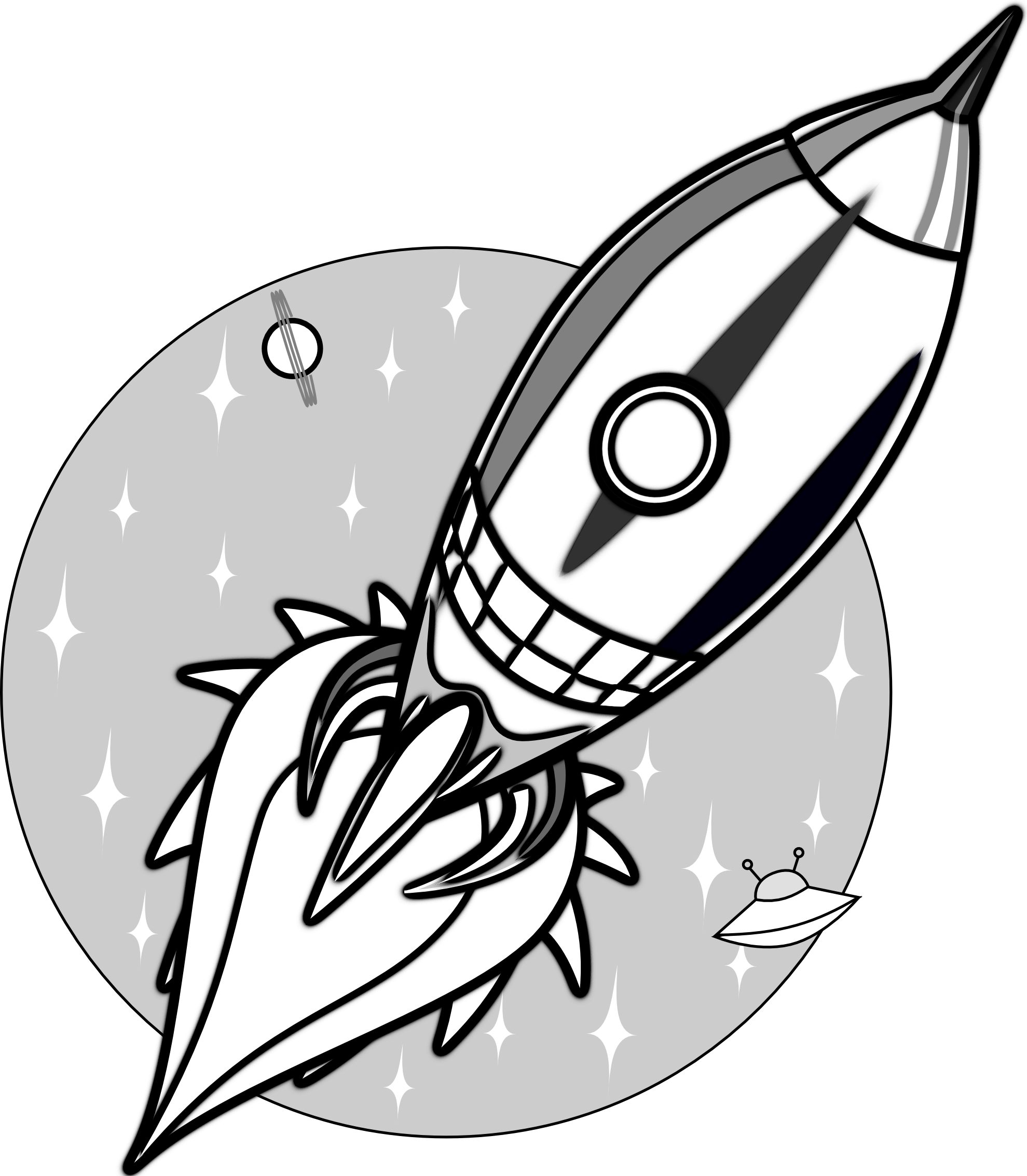 Spaceship clipart black transparent png royalty free Images For > Rocket Clip Art Black And White | Rockets ... png royalty free