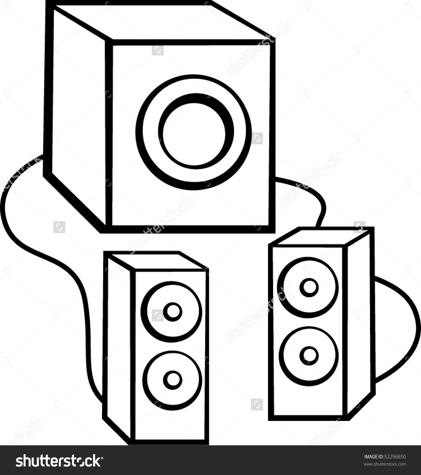 White speakers clipart image black and white library Speakers Clipart | Free download best Speakers Clipart on ... image black and white library