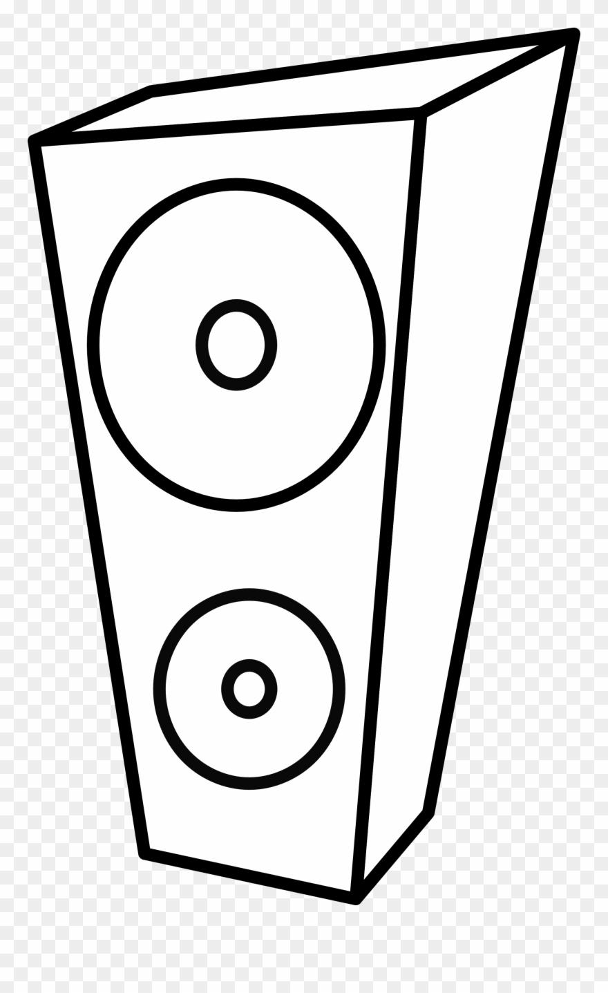 White speakers clipart jpg transparent stock Lemmling Speaker Black White Line Art Artist Coloring ... jpg transparent stock