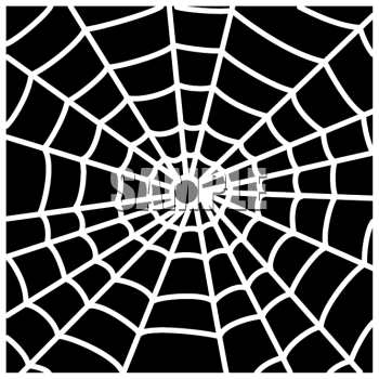 White spider web clipart picture free Clipart Picture of a White Spider Web on a Black Background ... picture free