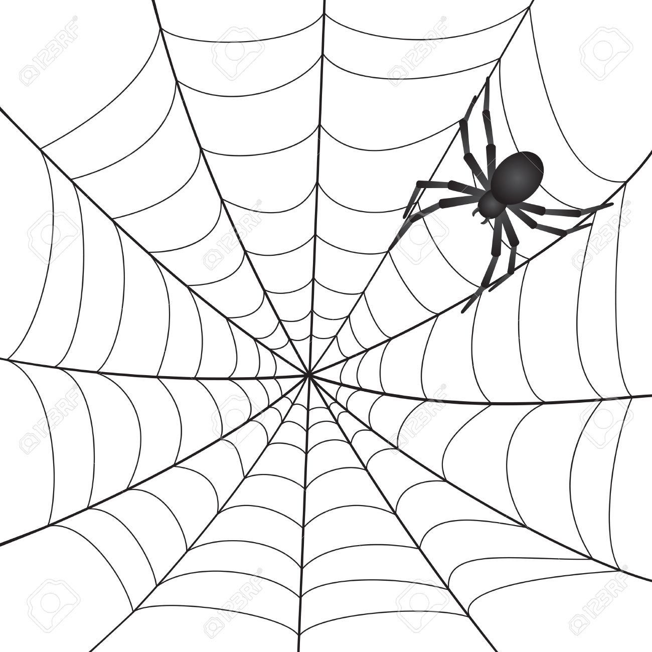 White spider web clipart image free download Spiderweb clipart New Black white spider web clip art black ... image free download