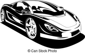 White sports car clipart banner Sports car clipart black and white 2 » Clipart Station banner