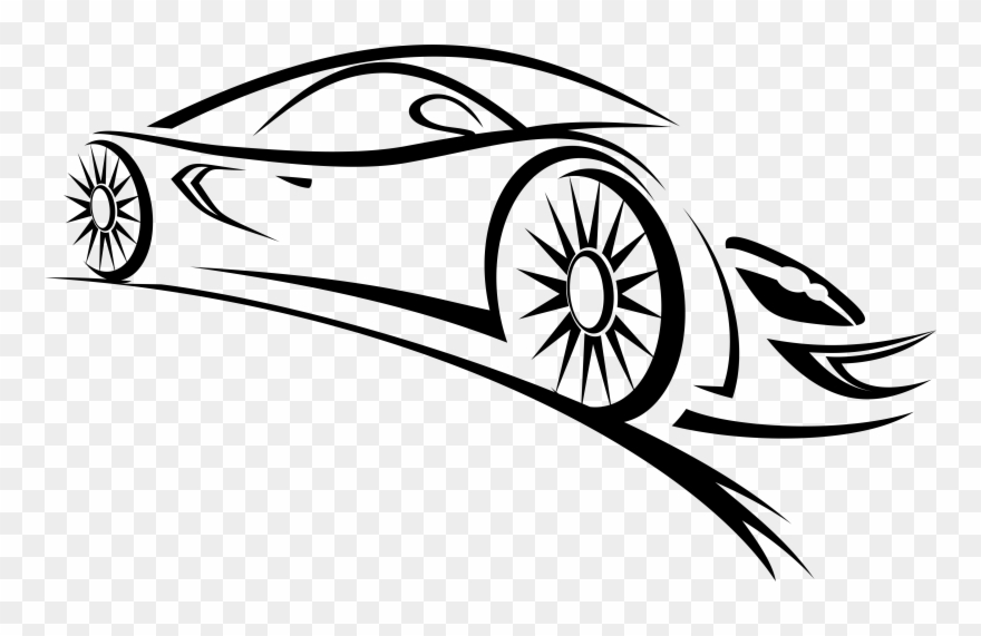 White sports car clipart banner download Sports Car Clipart Black And White - Car Vector Logo Png ... banner download