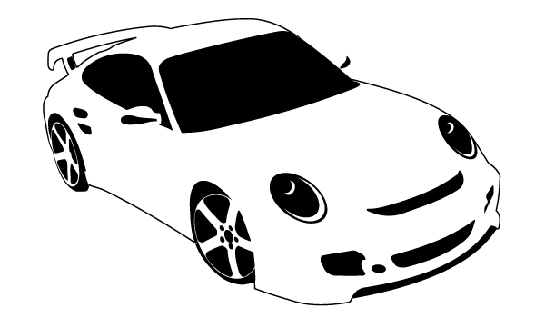 White sports car clipart clipart transparent download Sport Car   Download Free Vector Art   Free-Vectors clipart transparent download