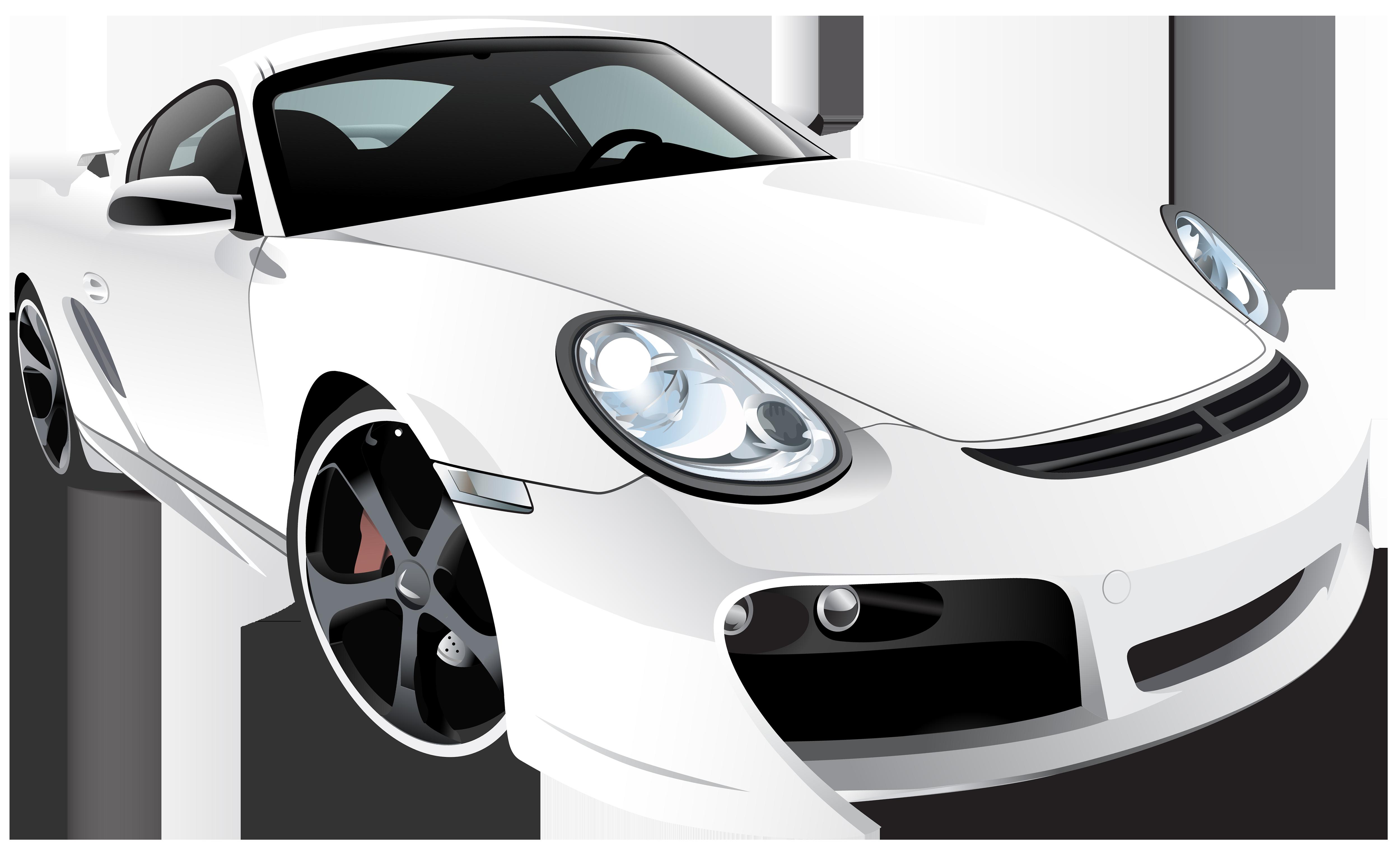 White sports car clipart clip art library download White Sport Car PNG Clip Art - Best WEB Clipart clip art library download