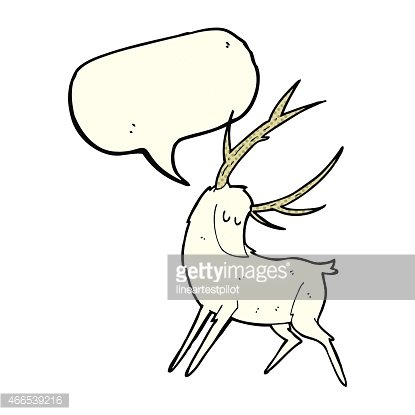 White stag clipart svg Cartoon White Stag With Speech Bubble premium clipart ... svg