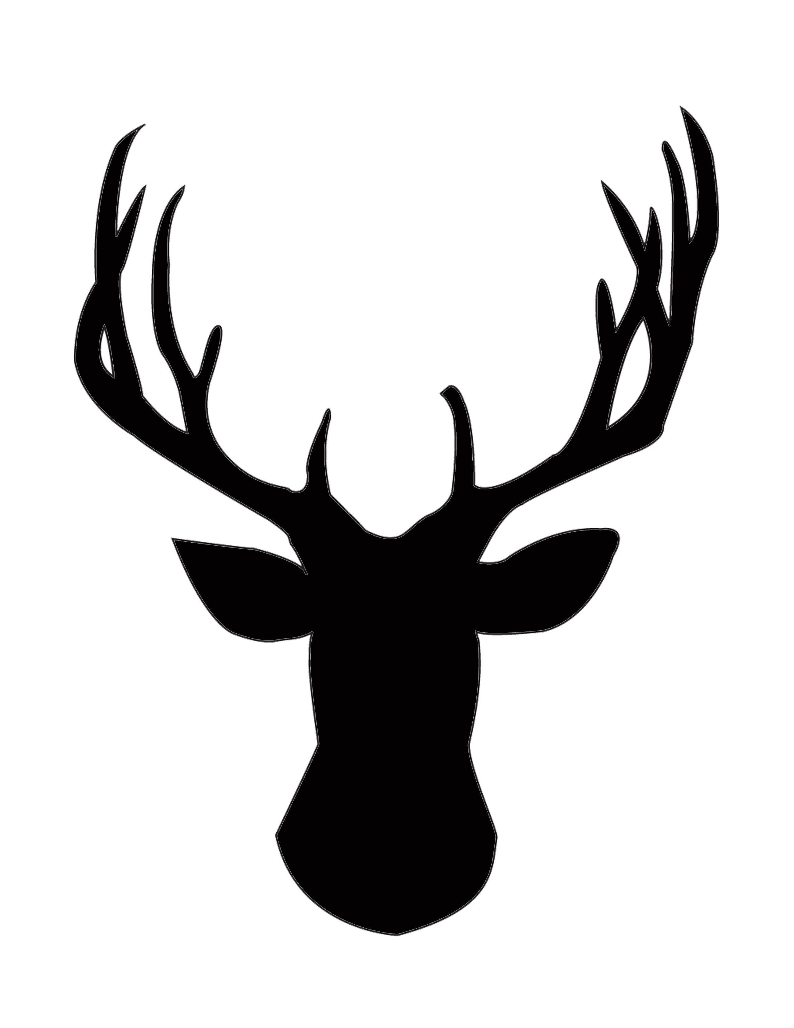 White stag clipart jpg freeuse download Deer Head Black And White | Free download best Deer Head ... jpg freeuse download