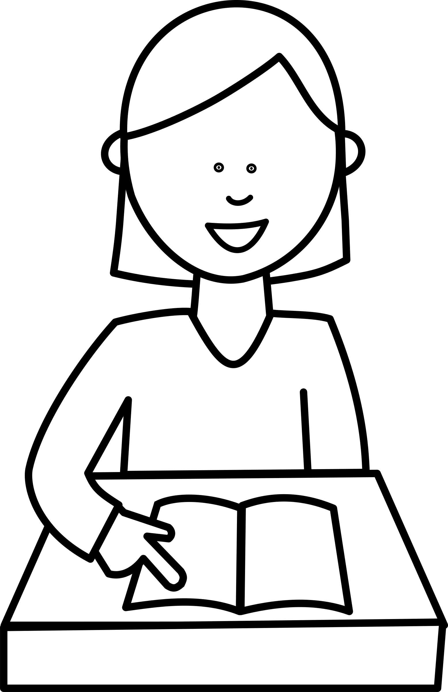 White student clipart freeuse library Download Read A Book Clipart Black And White - Student ... freeuse library