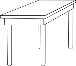 White table clipart image freeuse Free Table Clipart Black And White, Download Free Clip Art ... image freeuse