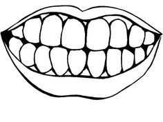 White teeth clipart png library library Teeth Clipart Black And White – Pencil And In Color Teeth ... png library library