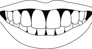 White teeth clipart vector library stock White teeth clipart 3 » Clipart Portal vector library stock