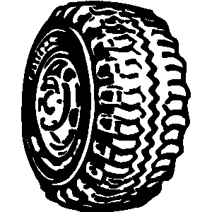 White tire clipart vector black and white stock Tire clipart black and white 6 » Clipart Station vector black and white stock