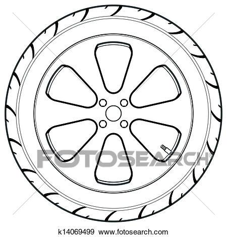 White tire clipart png transparent library Tire black and white clipart 3 » Clipart Portal png transparent library