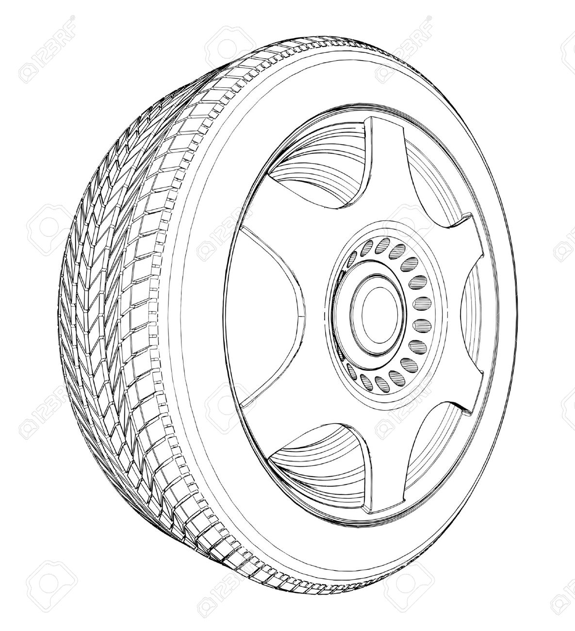 White tire clipart clip royalty free download Tire black and white clipart 3 » Clipart Station clip royalty free download