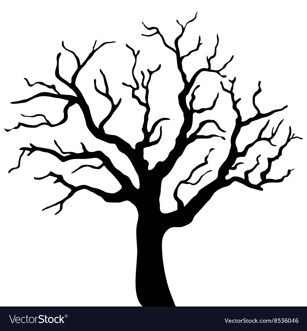 White tree black background clipart clip free stock Tree black silhouette isolated on white background clip free stock