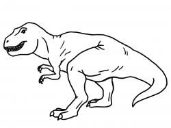 White trex clipart graphic library Tyrannosaurus black and white. T rex clipart outline ... graphic library