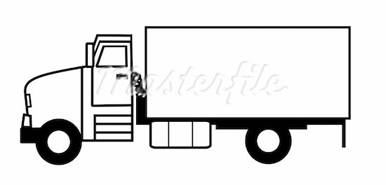 Lorry clipart black and white clipart royalty free library Truck Top View Clipart | Free download best Truck Top View ... clipart royalty free library
