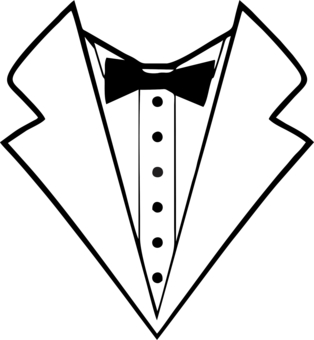 White tux clipart svg freeuse library Tuxedo Clipart   Free download best Tuxedo Clipart on ... svg freeuse library