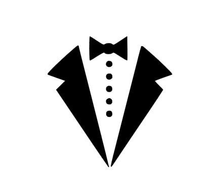 White tux clipart png free stock Tux outline clipart - Clip Art Library png free stock