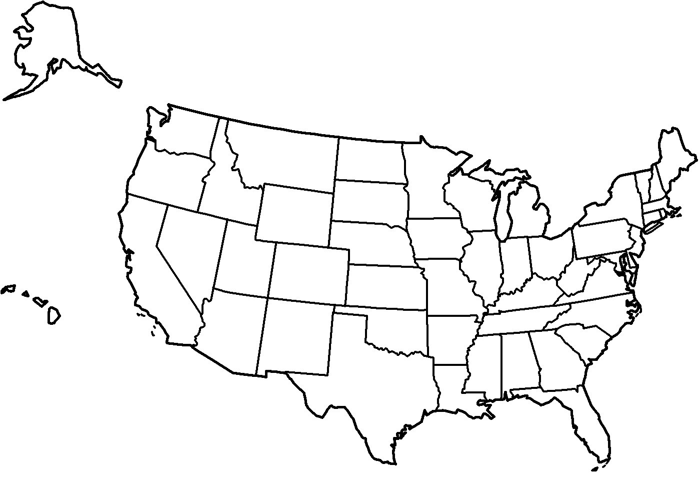 White united states map clipart vector transparent library At Clipart Of United States Map The Us Black And White ... vector transparent library