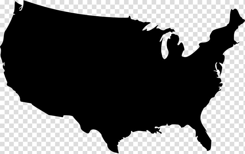 White united states map clipart